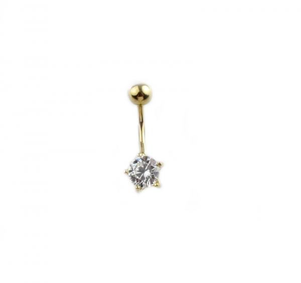 Piercing aur galben buric cu zirconia - DA339 0