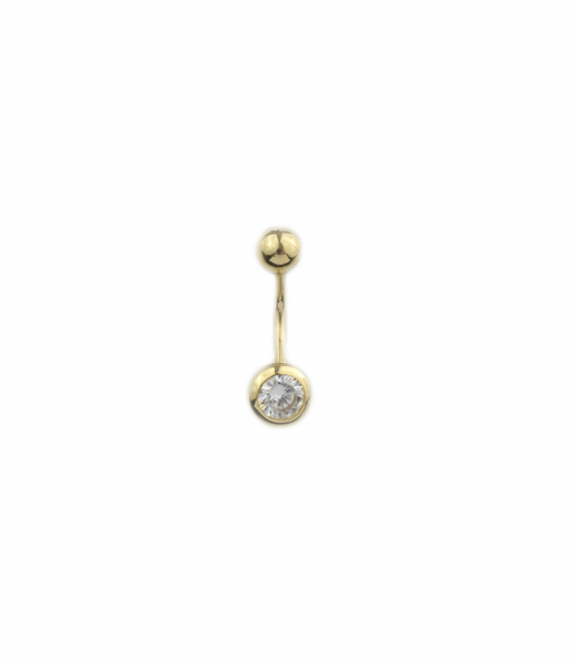 Piercing aur galben buric cu zirconia - DA447 0