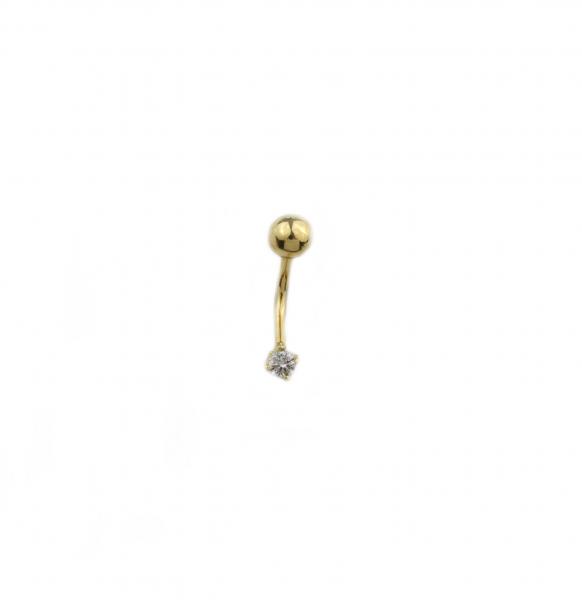 Piercing aur galben buric cu zirconia - DA453 0