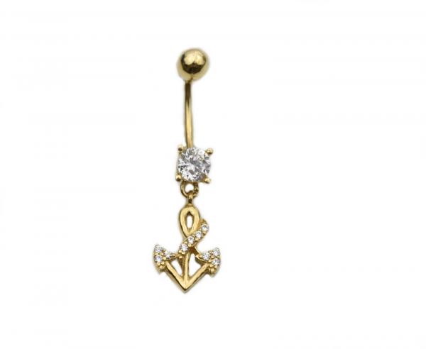 Piercing aur galben buric - DA245