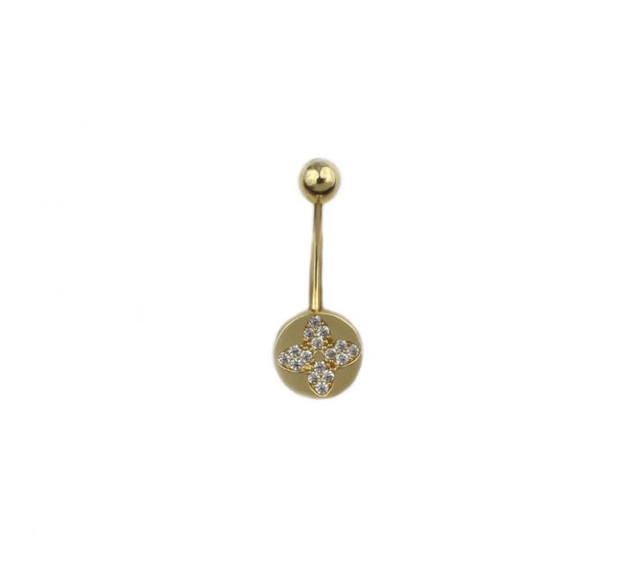 Piercing aur galben buric - DA487 [0]