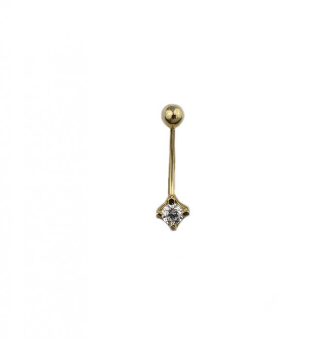 Piercing aur galben buric - DA498 [0]