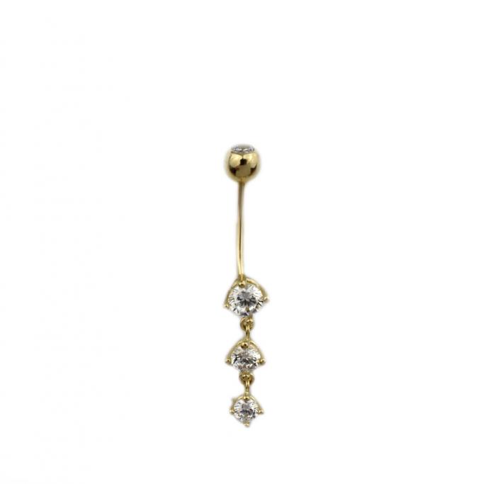 Piercing aur galben buric - DA502 [0]
