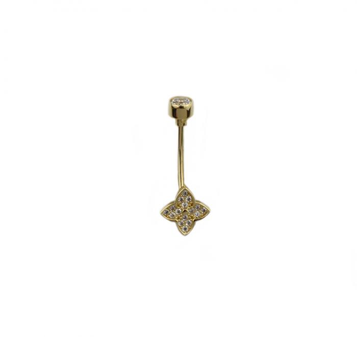 Piercing aur galben buric - DA504 [0]