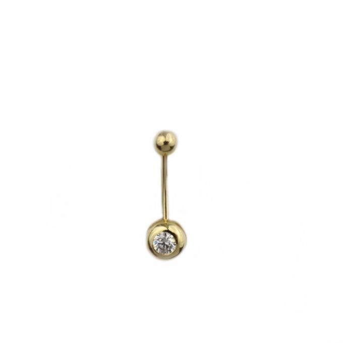 Piercing aur galben buric - DA505 [0]