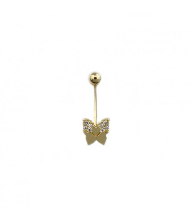 Piercing aur galben buric fluture - DA490 [0]