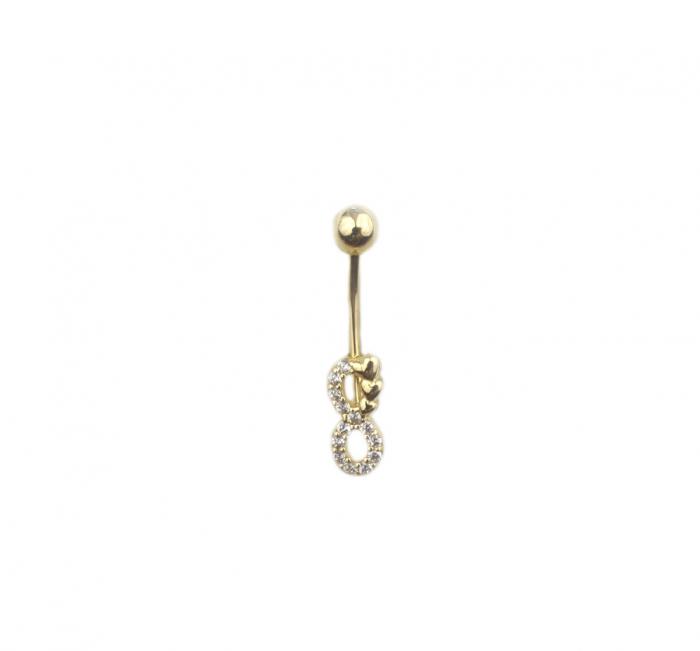 Piercing aur galben buric infinit - DA488 [0]