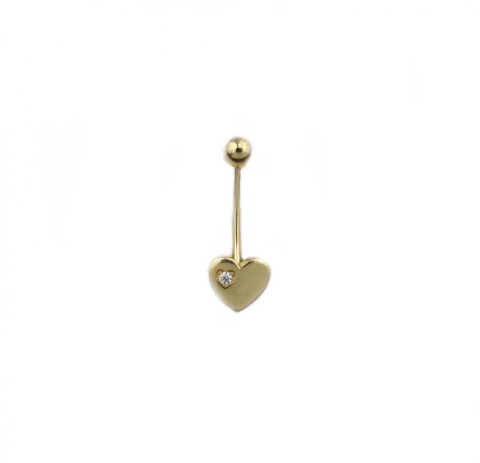 Piercing aur galben buric inima - DA491 [0]