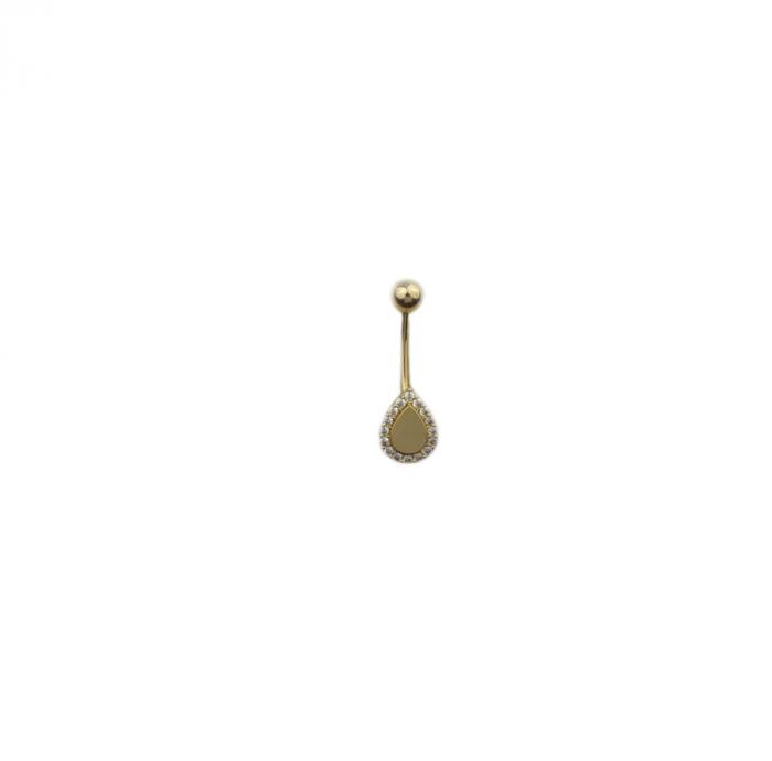 Piercing aur galben buric lacrima - DA494 [0]