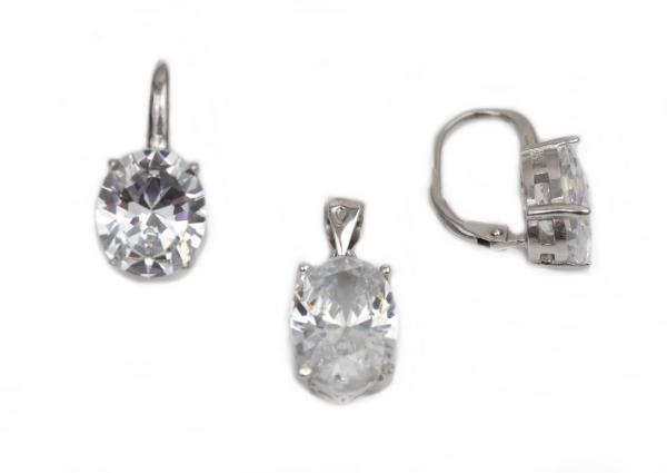 Set argint rodiat cu zirconiu - DA218.