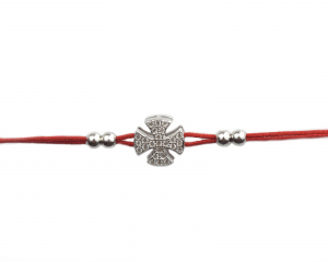 Bratara snur rosu cu pandant cruce - DA1500
