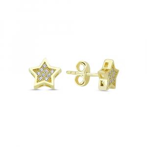 Cercei aur galben stelute cu zirconia - DA3350