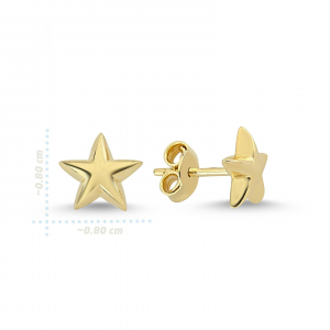 Cercei aur galben stelute - DA2291