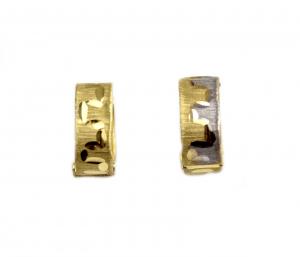 Cercei aur linia vietii cu doua fete - DA58