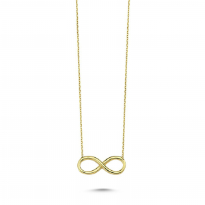 Colier aur galben 14k  cu pandant infinit - DA329 - Copie0