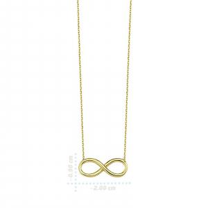 Colier aur galben 14k  cu pandant infinit - DA3291