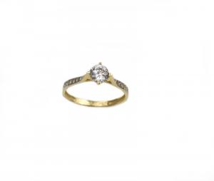 Inel de logodna aur galben cu zirconia - DA1800