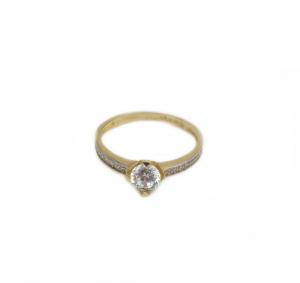 Inel de logodna aur galben cu zirconia - DA1801