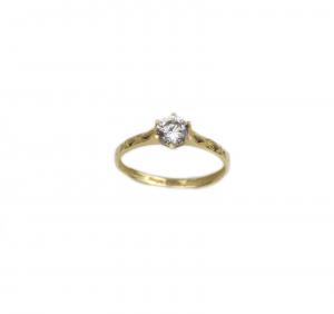 Inel de logodna aur galben cu zirconiu - DA191