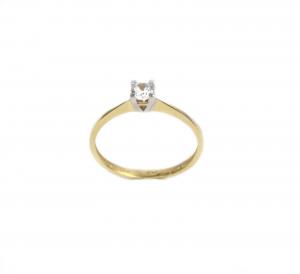 Inel de logodna aur galben si alb cu zirconia - DA1690