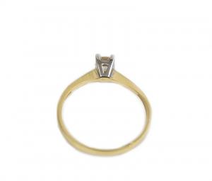 Inel de logodna aur galben si alb cu zirconia - DA1691