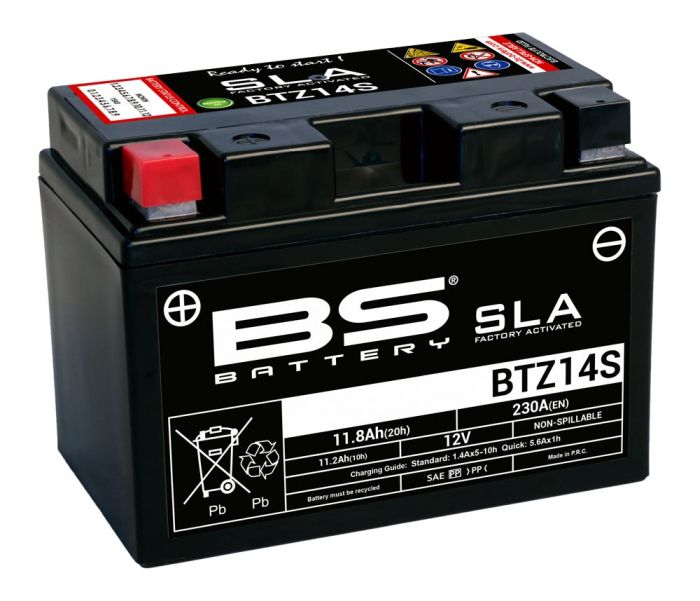 Baterie activata din fabrica BS-BATTERY YTX14-BS 0