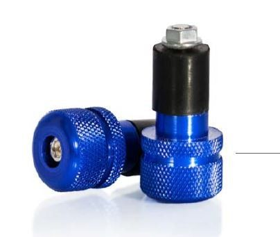 Capete de ghidon moto 18-20mm albastru MOTION STUFF [0]