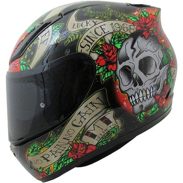 Casca moto integrala MT Revenge Skull & Rose 0