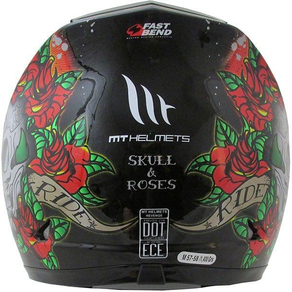 Casca moto integrala MT Revenge Skull & Rose 2