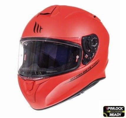 Casca moto integrala MT TARGO Solid A5 Rosu Mat 1