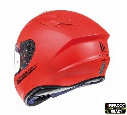 Casca moto integrala MT TARGO Solid A5 Rosu Mat 4