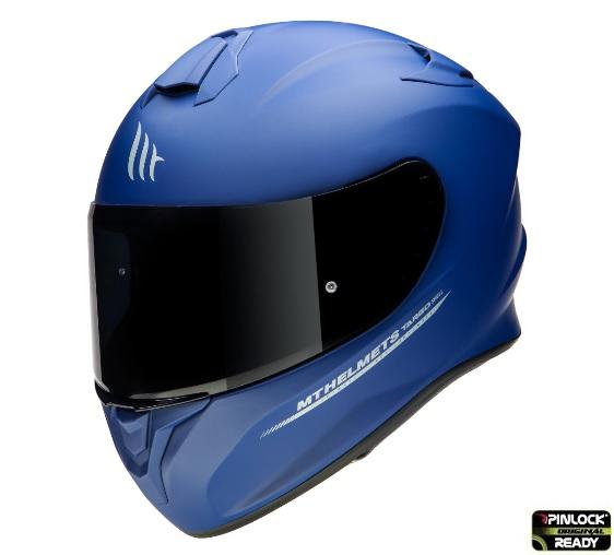 Casca moto integrala MT TARGO Solid A7 Albastru Mat 1
