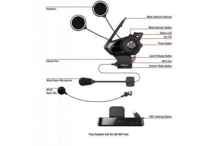 Sistem comunicare moto SENA 30K DUAL PACK [4]
