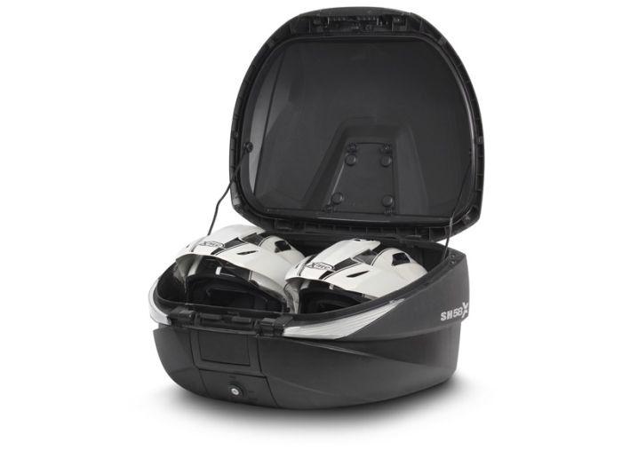 Topcase moto expandabil SHAD SH58X Carbon 4