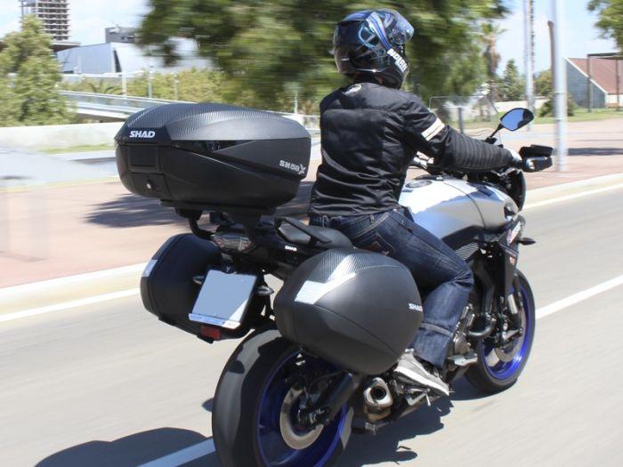 Topcase moto expandabil SHAD SH58X Carbon 7