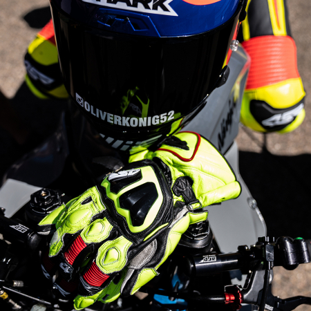 Manusi moto din piele 4SR STINGRAY RACE SPEC YELLOW [5]