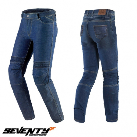 Blugi moto slim fit Seventy Degrees SD-PJ6 [0]