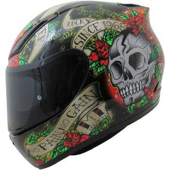 Casca moto integrala MT Revenge Skull & Rose0