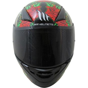 Casca moto integrala MT Revenge Skull & Rose1