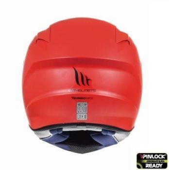 Casca moto integrala MT TARGO Solid A5 Rosu Mat3