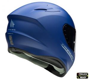 Casca moto integrala MT TARGO Solid A7 Albastru Mat2