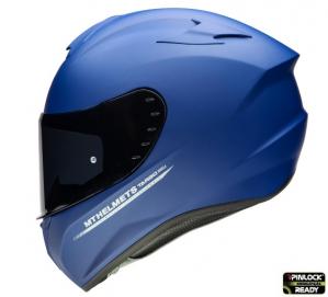 Casca moto integrala MT TARGO Solid A7 Albastru Mat0