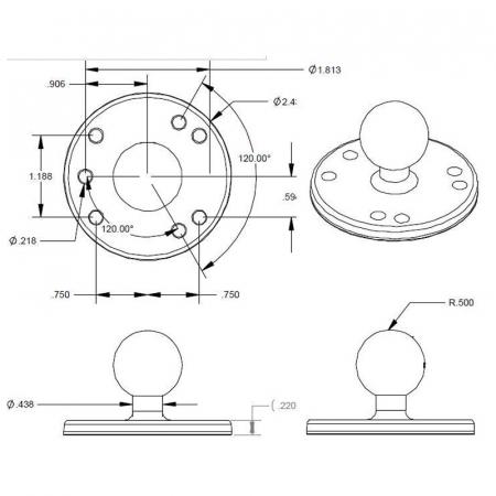 Ram Mount baza rotunda [1]