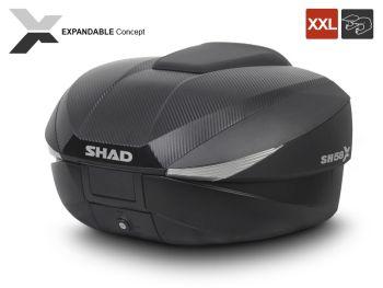 Topcase moto expandabil SHAD SH58X Carbon3