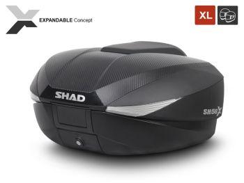 Topcase moto expandabil SHAD SH58X Carbon2