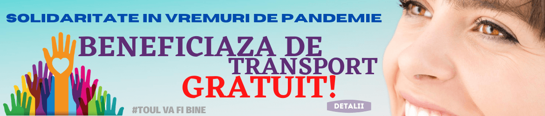 Beneficiaza de transport gratuit!