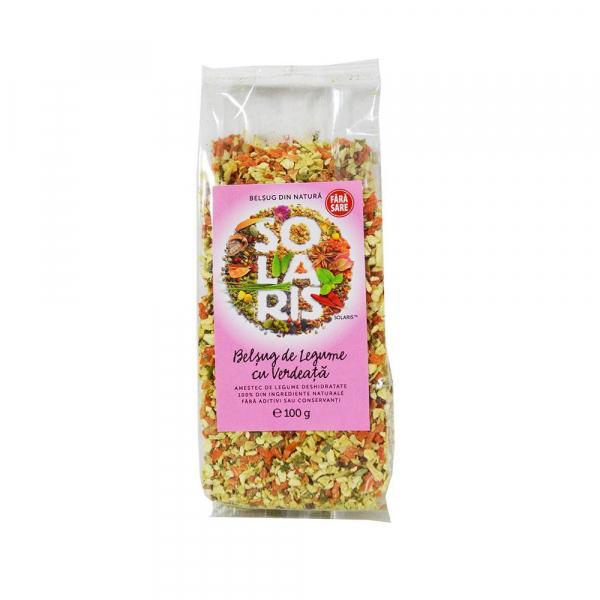 Condiment Belsug de Legume cu Verdeata si Sare Himalaya, 100g (punga) Solaris 0