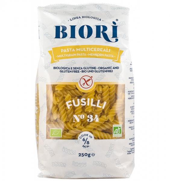 Paste Fusilli Bio Din Faina Multicereale 250gr Biori 0