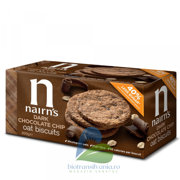 Biscuiti din ovaz integral cu ciocolata 200g Nairn's [0]