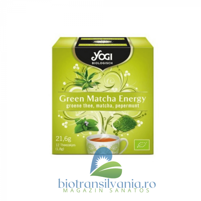 Ceai BIO Green Matcha Energy 21.6 g Yogi Tea 0